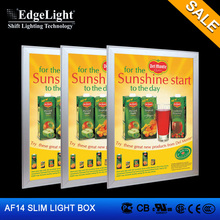 Edgelight Popular advertising edge-lit led sign light box CE UL RoHS Any sizes available and portable