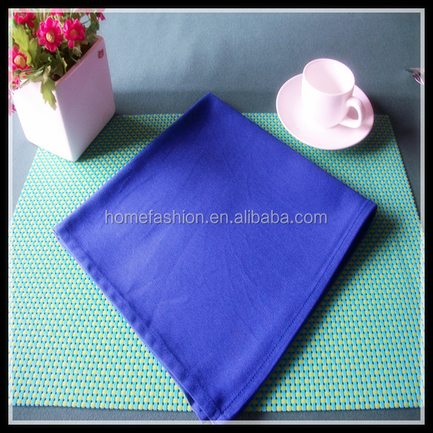 "Best selling 20x20"" cotton napkin plain style blue and many colors available"