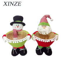 Christmas decoration Stuffed Standing ornaments gift baskets body