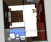 XGZ hotel modular prefabricated shipping container buildings