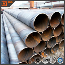Big diameter steel pipe anti corrosive coating, black spiral weld carbon steel pipe