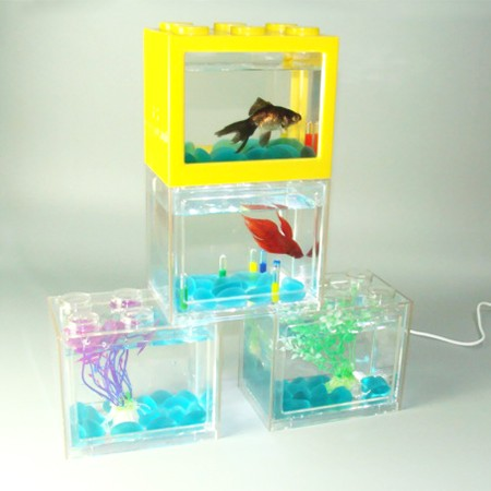 mini USB LED lighting plastic aquarium fish tank