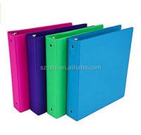 Fashion Color 3 Ring Storage Binder, 1.5 Inch Round Ring, 4 Pack Assorted