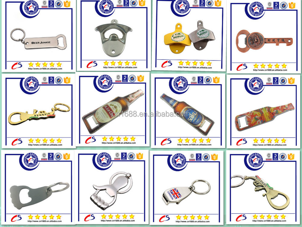 2015 high quality new design custom beer bottle opener