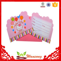 China supplier cheap custom birthday greeting card with logo design