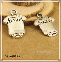 12x16mm Tibetan Silver Charm Antique Silver Tone Baby Cloth charm DIY Necklace Earring Bracelet Pendant Charms Finding