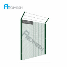 AEOMESH factory Double Circle Anti-Climbing Steel Fence Garden Fence, decorative wrought iron panels