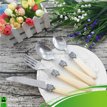 Royal Stainless Steel Cutlery Set with White Handle for Restaurant Hotel
