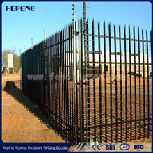 Hot dipped galvanized Steel Anti-climb Security Fence / palisade fence