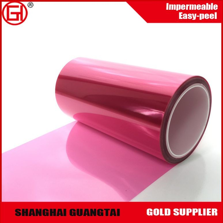75um corona treatment Silicone coated red pet release film roll