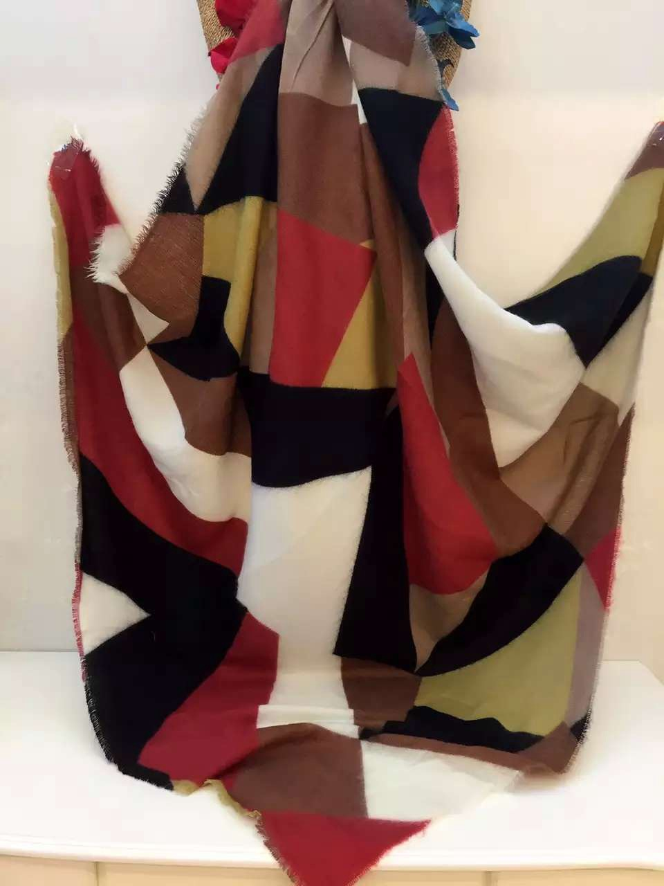 New Women Blanket Cozy Multi Color Mixed Shawl