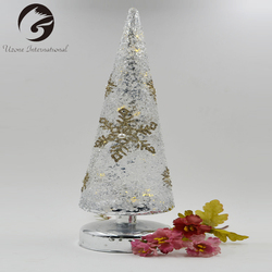 Exquisite Workmanship Tall Mosaic Glass Candle Holders