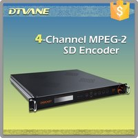 DMB-9311 4 channels CVBS input MultiChannel DTV Encoder ASI & TSoIP ouput, cable tv digital headend