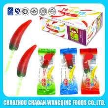 2017 new type Chili Shaped Hard Candy Halal Lollipop