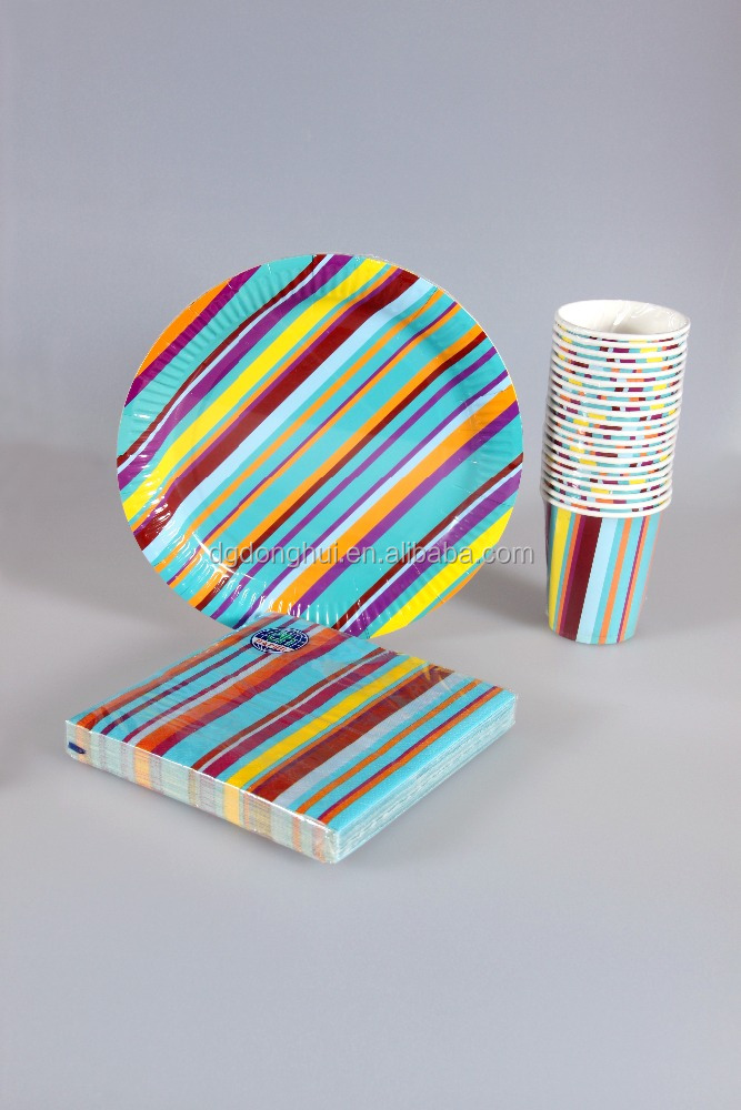 Paper Cup/Paper Plate/Paper Napkin Sets Party Favorable