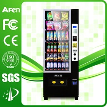Small automatic hot food vending machine with card reader