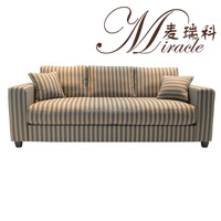 American Style Stripe Pattern 3 Seats Living Room Sofas