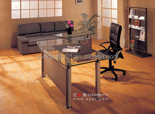 Modern High End Executive Office Desk Design Glass Table
