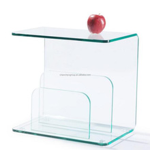 Curved bent glass/ Tempered bent glass for coffee table or desk