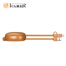 Best Design Price Retractable Multi Genuine Leather USB Charger Cable Protector For iPhone