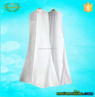 white nonwoven zippered garment bag for wedding dress