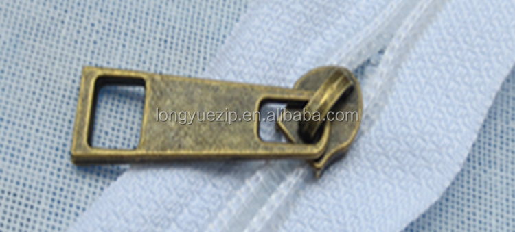 China custom engraved logo zip puller 3d zipper slider and puller