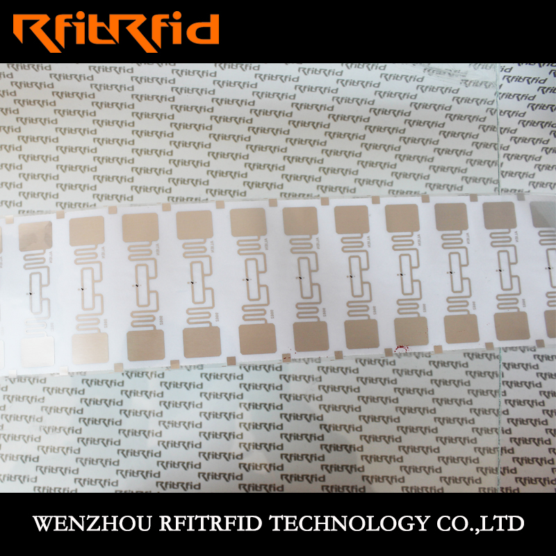 UHF Printable high temperature resistant key rfid sticker For warehouse / logistics / apparel management
