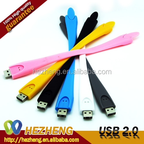 Promotion USB Lipstick Pen Driver Gift 4GB Rubber Bracelet 2.0 Customized