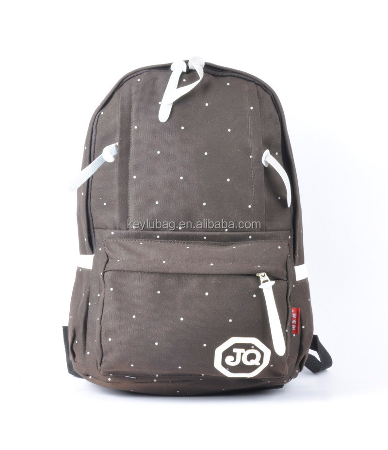 canvas leisure backpacks black white color for boys in school bags
