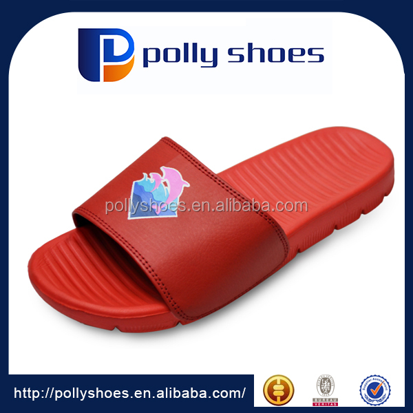 pu soft slipper 2017 summer fancy slipper for man