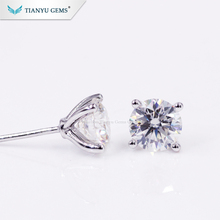 Tianyu gems 2 carat moissanite fashion moissanite earrings on sale