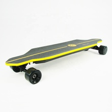 44 MPH 44 Miles fastest 1000w adult dual hub motor bamboo suv all terrain offroad electric skateboard with bluetooth speaker
