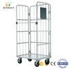 Folding trolley cart metal roll cage pallet mesh laundry trolley