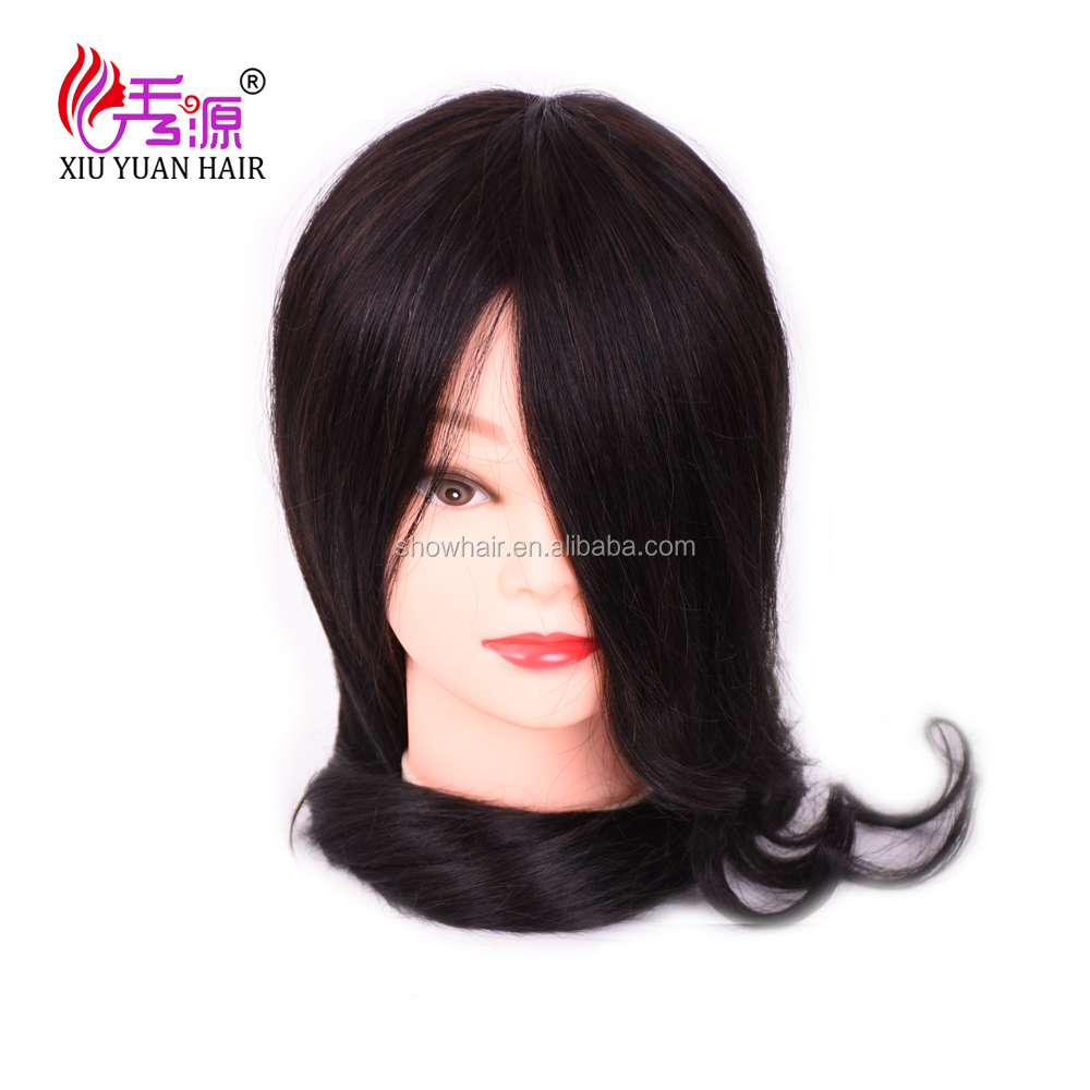 Cheap hair mannequin head, 100%human hair mannequin head, asian mannequin