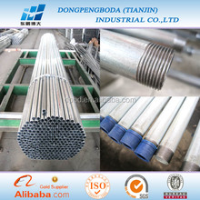 20mm EMT/RSC/IMC ul listed galvanized square electrical conduit/ pipe