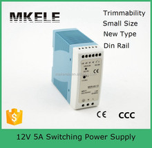 MDR-60-12 Small volume din rail power supply meanwell din -rail power supply 60W 12V single output