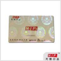 Custom transparent plastic hologram sticker sheet packing
