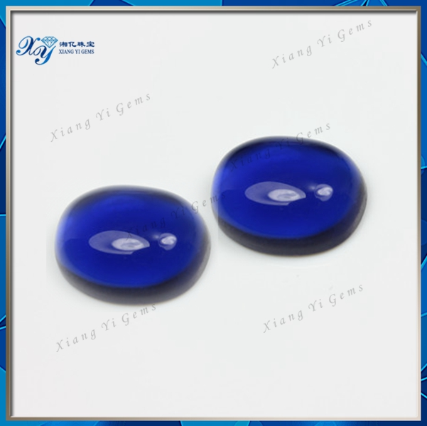 2017 Hot Loose Blue Sapphire Gems Diamonds Price Per Carat.Noblesse AAA Oval Cut Synthetic Cabochon Crystal Jewelry Stone