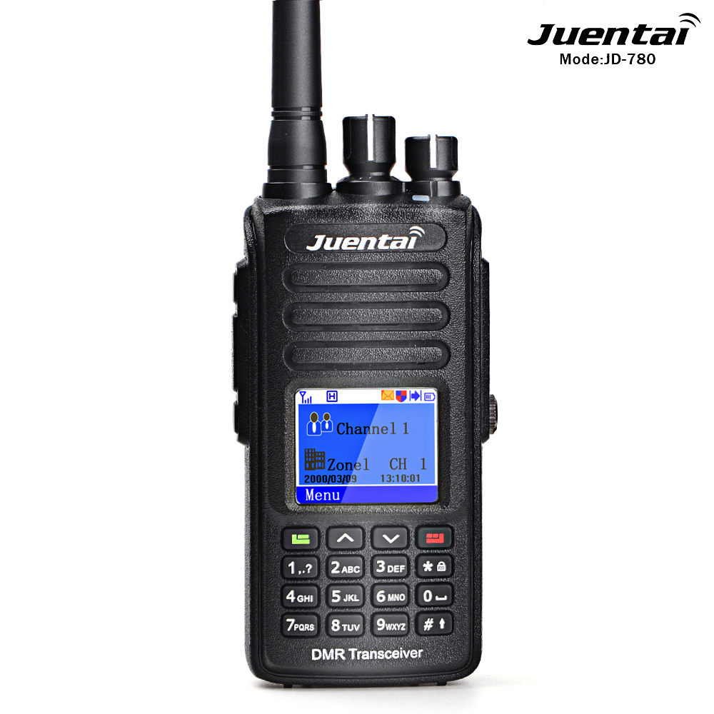 Juentai JD-780 VHF / UHF 5W Full-Duplex GPS IP67 Waterproof DMR Digital Portable Radio