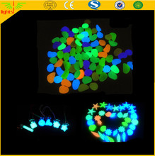 glow in the dark pebbles stone home garden walkway / luminous fish tank stones
