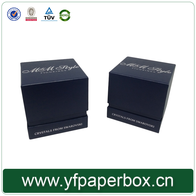 luxury silk insert hot stamping paper packing box gift box for perfume