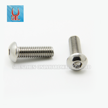 Metric stainless steel hexagon socket round pan head machine screws