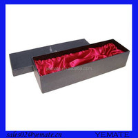 Recycled rigid cardboard wine carrier packaging box single wine glass box with lid