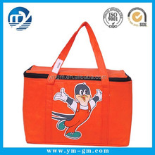 Portable insulated Grocery Tote Bag non woven cooler bag