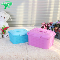 Hot Sale Plastic Sundries Storage Case with Handle