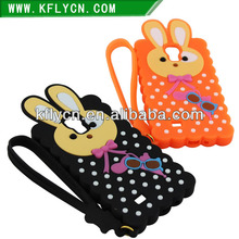 phone case maker for silicone cute rabbit design mobile phone cover