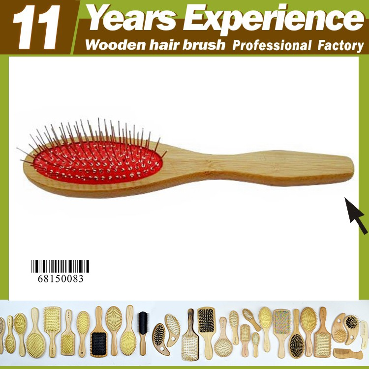 11 years experience professional hair brush wood factory , Eco-Friendly natural bristle wooden hair brush