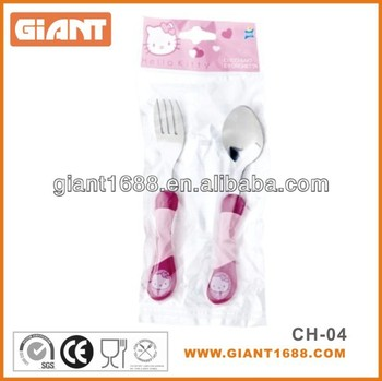 Hello kitty colour handle kid cutlery