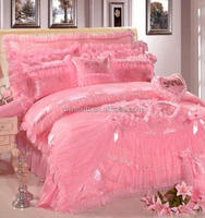 luxury leopard grain lace bedding set embroidered bed sheet set