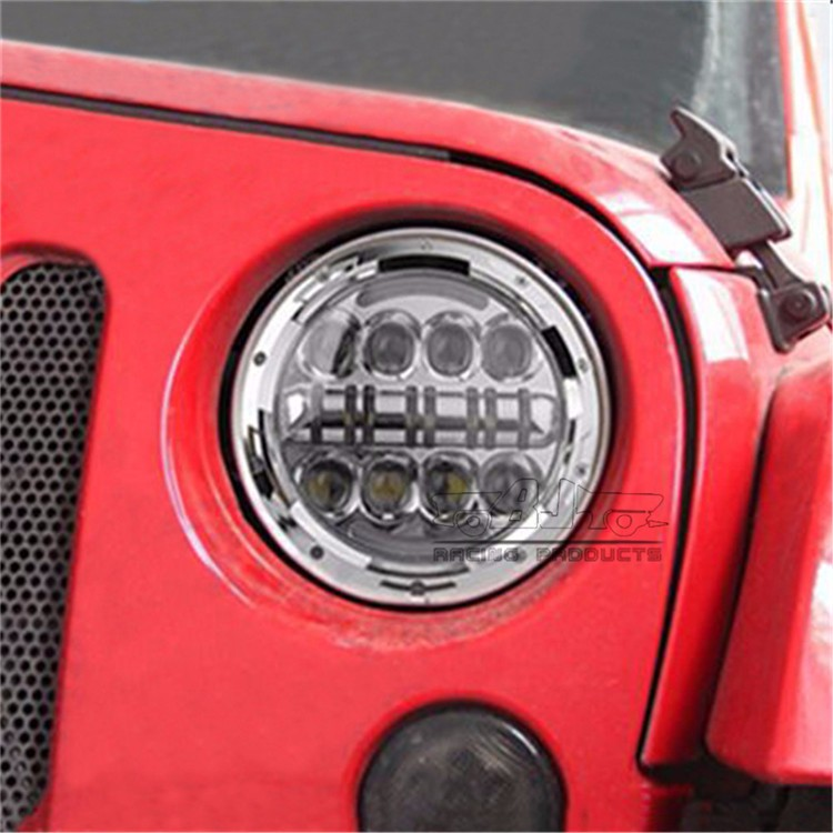 "BJ-HL-040 for harley Davidson 7"" round LED headlight head lamp for Jeep Wrangler"